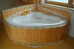 2009 - 2.2 Wanne eingefasst mit Mosaik